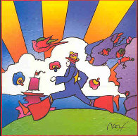 Cosmic Runner Limited Edition Print by Peter Max - 0
