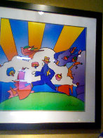 Cosmic Runner Limited Edition Print by Peter Max - 2