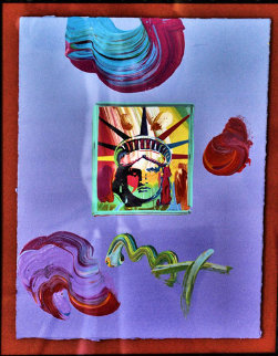 Statue of Liberty 1981 Original Painting by Peter Max