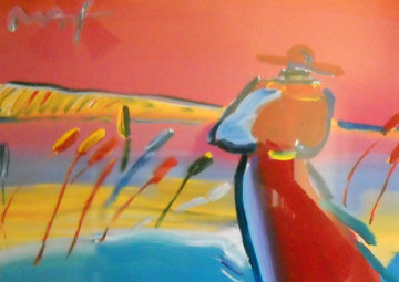 Walking in Reeds  Unique 17x24 Works on Paper (not prints) - Peter Max