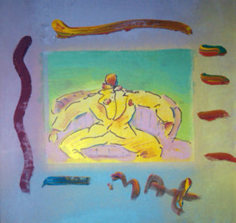 Monk by Window Unique 1993 Limited Edition Print by Peter Max