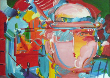 Zero 1994 36x48 Original Painting - Peter Max