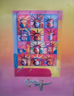 Liberty and Justice for All Unique 2004 Works on Paper (not prints) by Peter Max