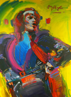Mick Jagger - Unique 1988 45x31 Huge  Works on Paper (not prints) - Peter Max