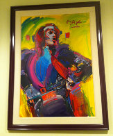 Mick Jagger - Unique 1988 45x31 Works on Paper (not prints) by Peter Max - 1