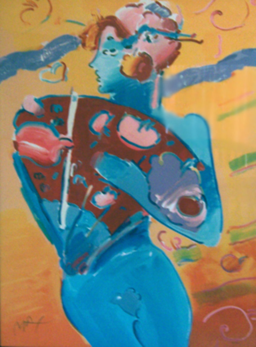 Nude Fandancer 1988 Super Huge Limited Edition Print by Peter Max