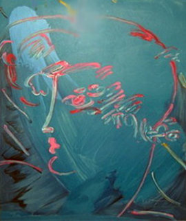 Blue Profile 1986 Limited Edition Print - Peter Max