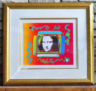 Mona Lisa Collage 2 Unique 12x14 Works on Paper (not prints) by Peter Max - 1