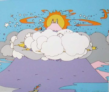 Being with Moorti, Top of the World (early work 1972) Limited Edition Print - Peter Max