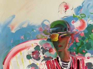 French Zero's Girlfriend 1990 Limited Edition Print by Peter Max