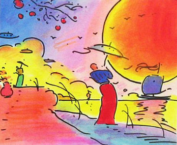 Two Sages in The Sun 2003 Limited Edition Print by Peter Max