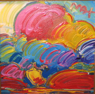 Samurai Sail #76 (Retro Suite V) Unique Works on Paper (not prints) by Peter Max