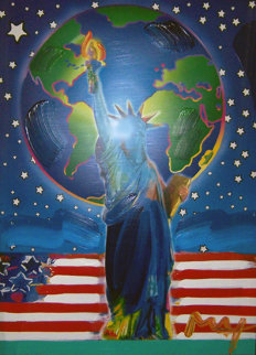 Peace on Earth Unique 2001 36x24 Works on Paper (not prints) by Peter Max