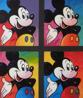 Mickey Mouse Suite of 4 Serigraphs 1995 Limited Edition Print by Peter Max