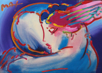 Peace by the Year 2000 Unique 36x40 Works on Paper (not prints) by Peter Max
