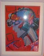 Crimson Lady 1987 Limited Edition Print by Peter Max - 2