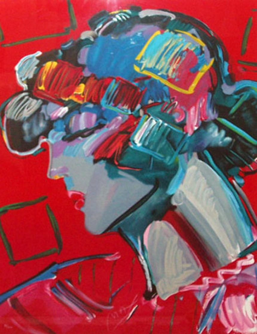 Crimson Lady 1987 Limited Edition Print by Peter Max