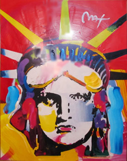 Delta Unique 2000 42x36 Works on Paper (not prints) by Peter Max