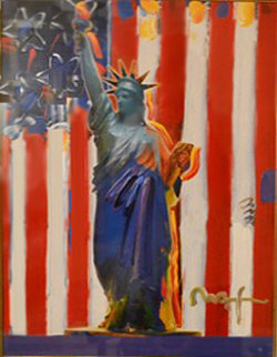 United We Stand 2001 37x31 Works on Paper (not prints) - Peter Max