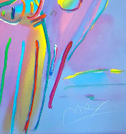 Angel With Heart PP 1990 Limited Edition Print by Peter Max - 2