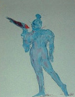 Circus Performer with Bird (early work 1972) (Vintage) Limited Edition Print by Peter Max - 0