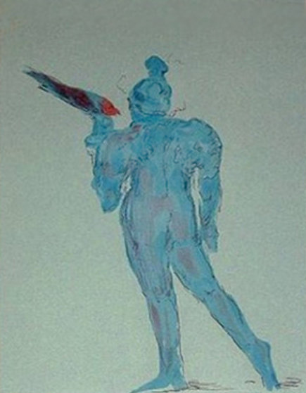 Circus Performer with Bird (early work 1972) Limited Edition Print by Peter Max
