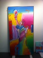 Statue of Liberty Ver. #1 2010 72x36 Super Huge  Original Painting by Peter Max - 1