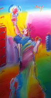 Statue of Liberty Ver. #1 2010 72x36 Super Huge  Original Painting by Peter Max - 2