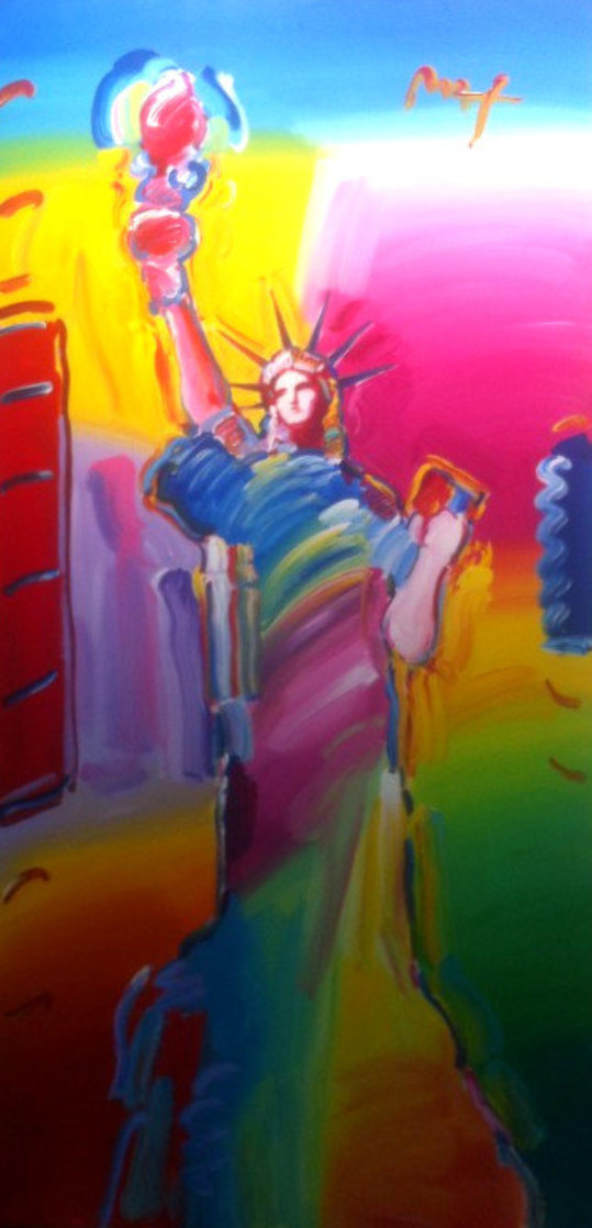 Statue of Liberty Ver. #1 2010 72x36 Super Huge  Original Painting by Peter Max
