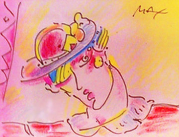 Untitled 1993 17x18 Works on Paper (not prints) by Peter Max