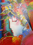 Blushing Beauty 2008 49x39 Original Painting - Peter Max