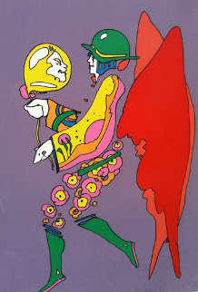 Tip Toe Floating 1972 (Vintage) Limited Edition Print - Peter Max