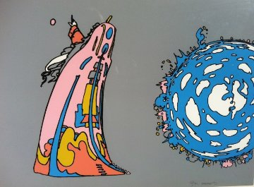 Pointing to Infinity 1971 Limited Edition Print by Peter Max