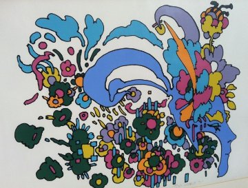 Leaving It Behind (early work, 1971, small edition) Vintage Limited Edition Print - Peter Max