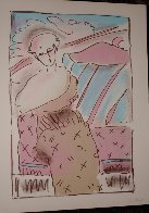 Seated Lady 1978 Limited Edition Print by Peter Max - 1
