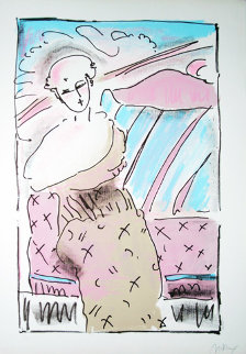 Seated Lady 1978 Limited Edition Print by Peter Max
