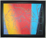 Brilliant 1987 32x26 Original Painting by Peter Max - 1