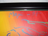Brilliant 1987 32x26 Original Painting by Peter Max - 3