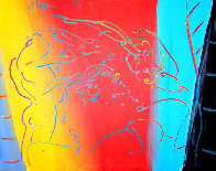 Brilliant 1987 32x26 Original Painting by Peter Max - 0