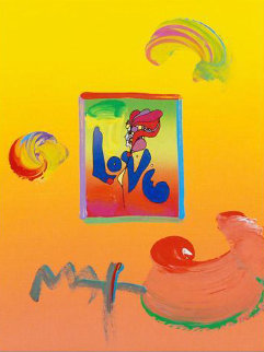 Love I Unique 2008 8.5x11  Works on Paper (not prints) by Peter Max