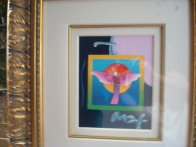 Angel with Sun on Blends 2006 Unique Works on Paper (not prints) by Peter Max - 1