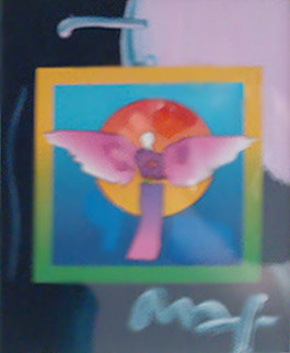 Angel with Sun on Blends 2006 Unique Works on Paper (not prints) by Peter Max