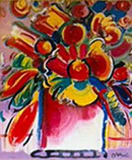 Abstract Flowers III 2001 Limited Edition Print - Peter Max