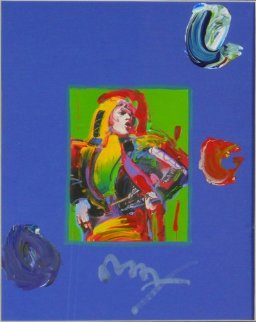 Mick Jagger Unique Works on Paper (not prints) by Peter Max