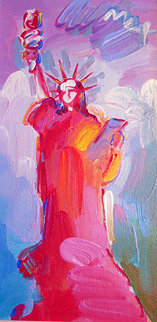 Statue of Liberty Ver II #20 2008 18x12 Original Painting by Peter Max