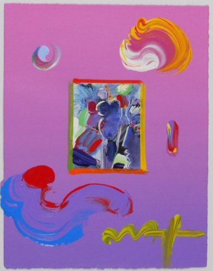 Angel And Spectrum 2010 Unique 11x8 Works on Paper (not prints) by Peter Max