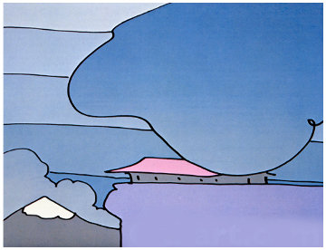 Early Morning I (early work 1978)  Limited Edition Print by Peter Max