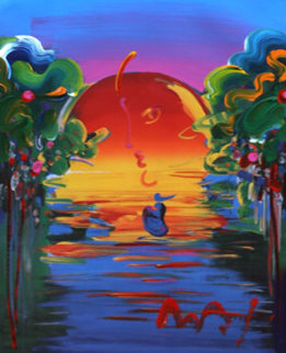 Rainforest Foundation / Better World Unique 36x31 Works on Paper (not prints) by Peter Max