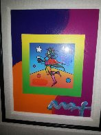 Star Catcher on Blends Unique 2005 25x24 Works on Paper (not prints) by Peter Max - 1