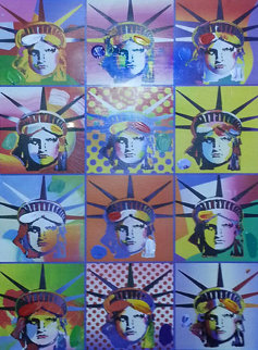 Liberty And Justice For All  II Unique Works on Paper (not prints) by Peter Max